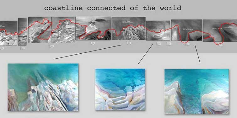 "25 paintings ""connect"" to a coastline"